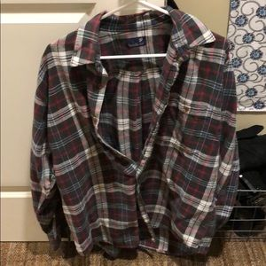 Tops - Oversized flannel in adorable print!